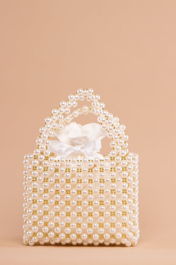Gold Detailed Pearl Bag - Berness
