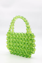Large Green Beads Handbag - Berness