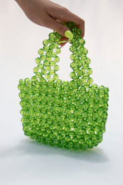 Green Pearl Beads Handbag - Berness