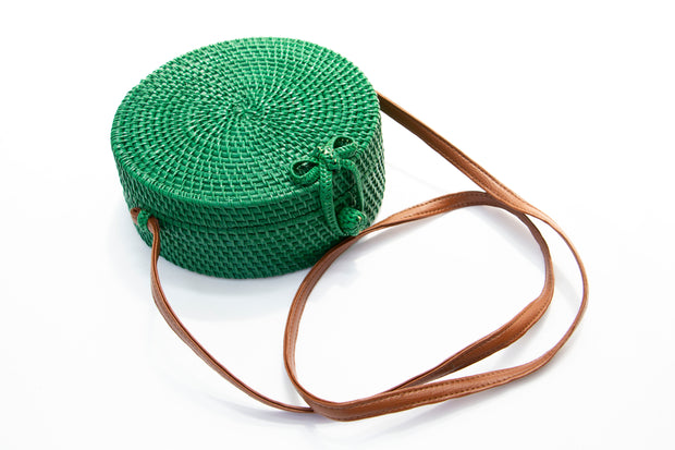 Green Straw Crossbody Bag - Berness