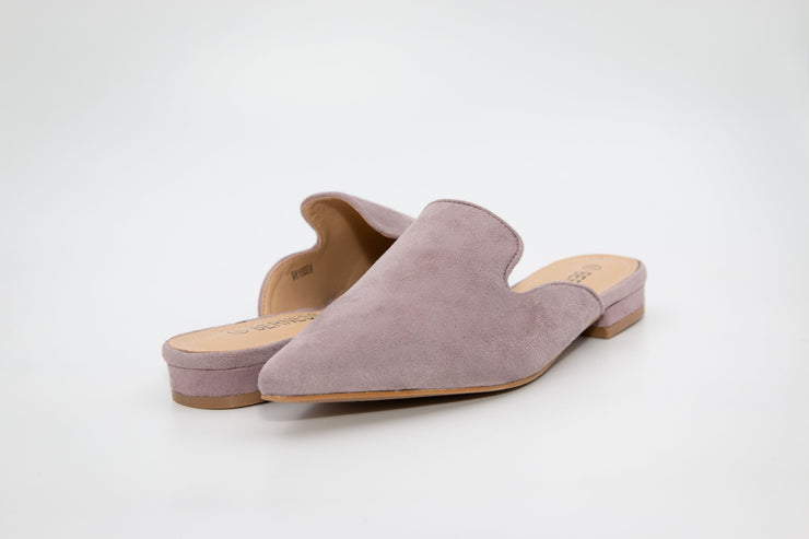 Grey Pointed Suede Loafers - Berness