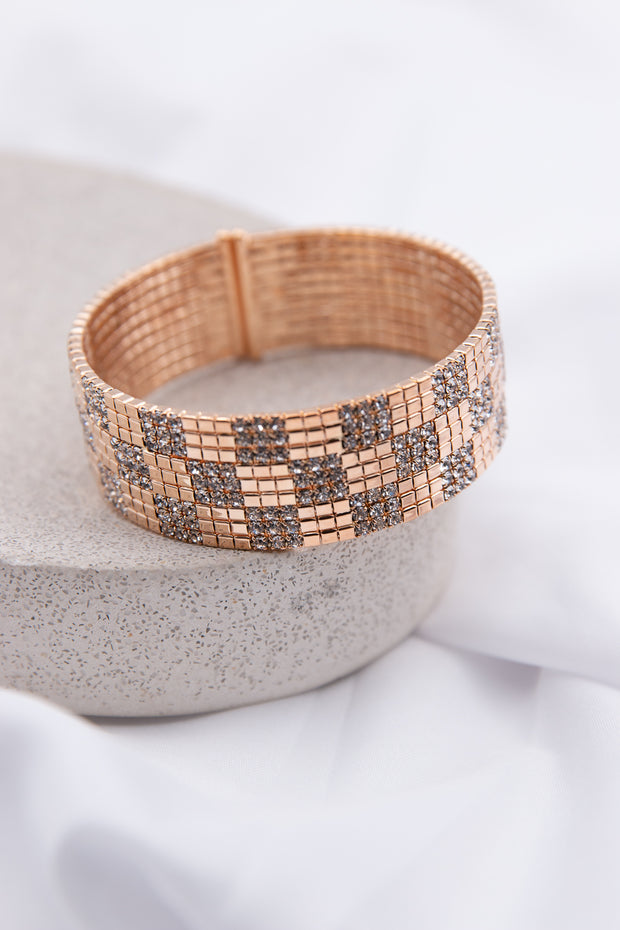 Diamante Square Pattern Bracelet - Berness