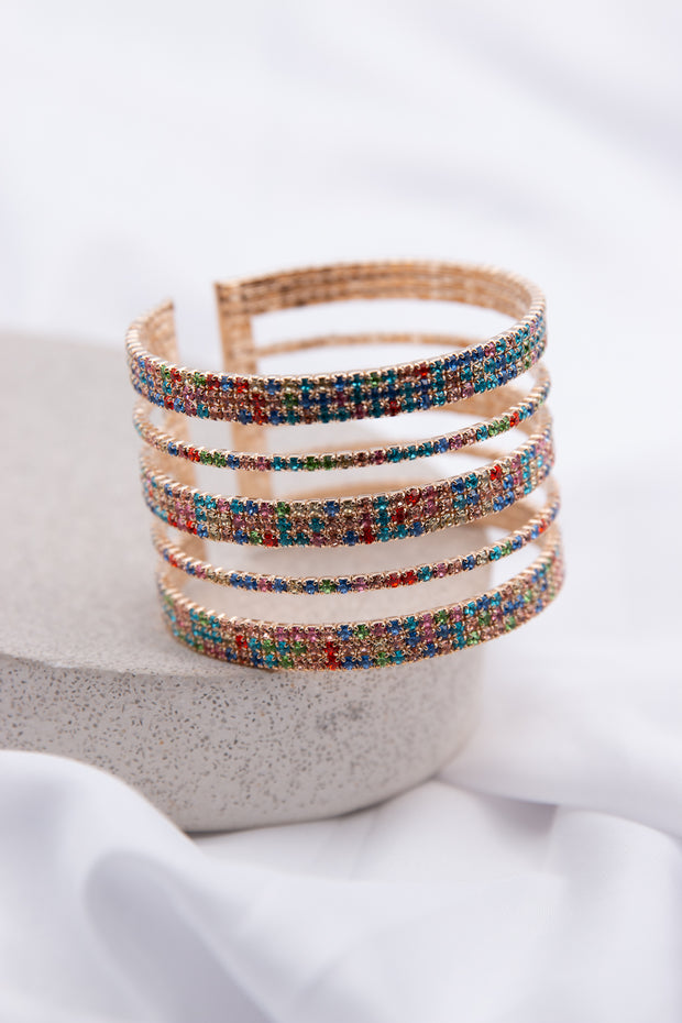 Rainbow Cut Out Wire Bracelet - Berness