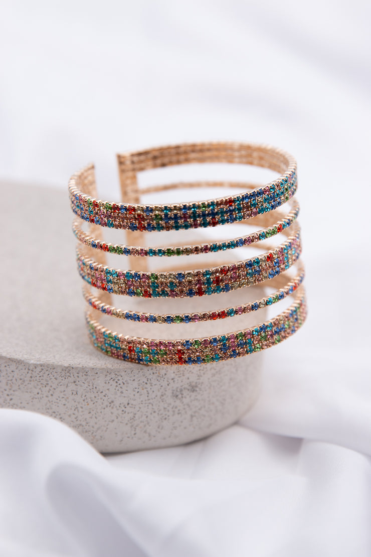 Rainbow Cut Out Wire Bracelet