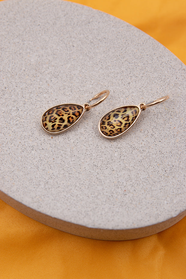 Pear Shaped Leopard Earrings - Berness