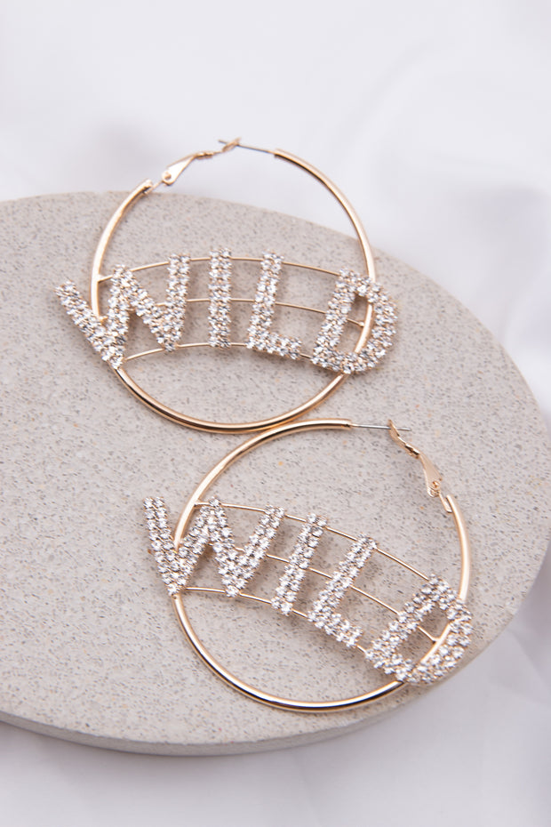 Letter Decor Hoop Earring - Berness