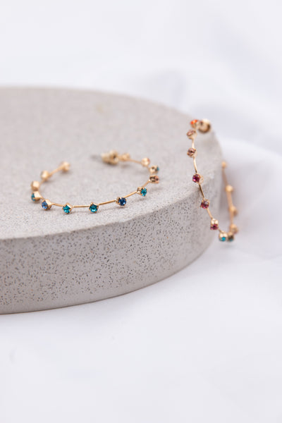 Gemstone Cuff Hoop Earring - Berness