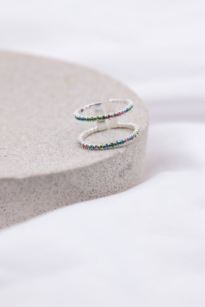 Double Sparkle Pastel Ring - Berness