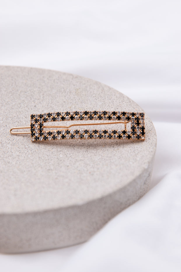 Dark Rectangle Hair Pin - Berness