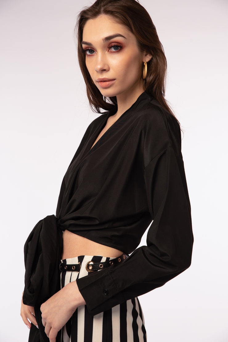 Front Tie Detailed Blouse - Berness