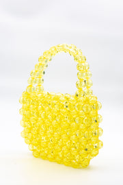 Large Yellow Beads Handbag - Berness