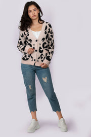 Leopard Fluffy Cardigan - Berness
