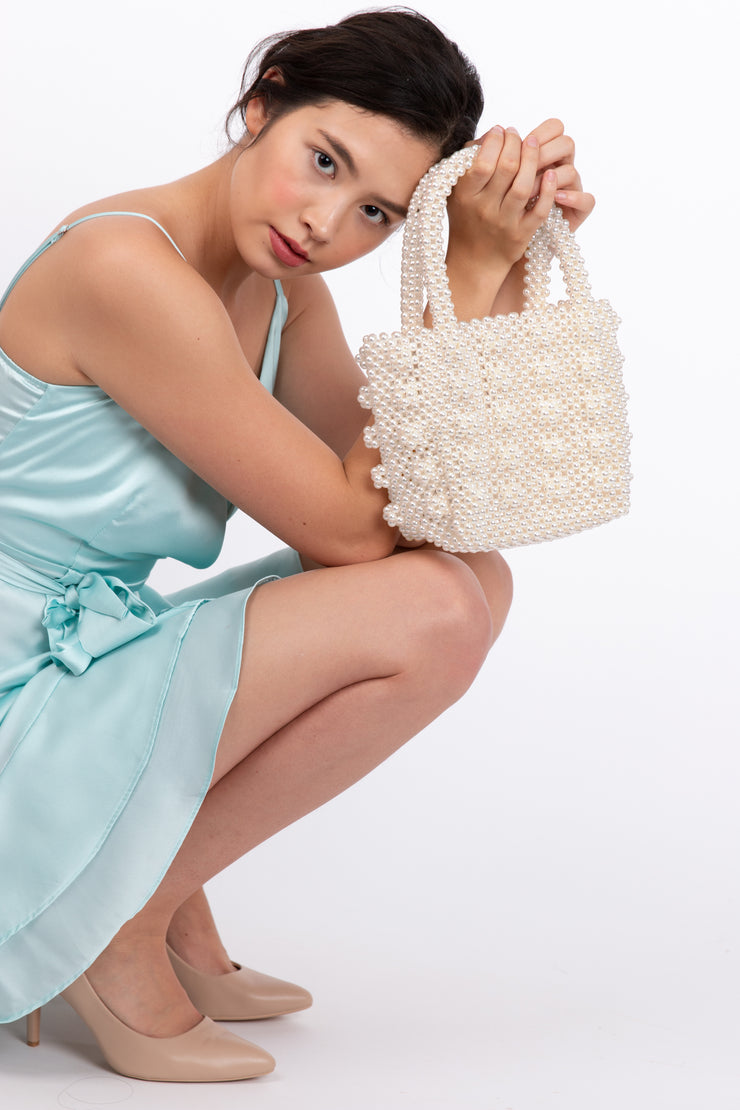 White Fancy Pearl Bag
