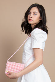 Pink Pearl Flap Bag - Berness