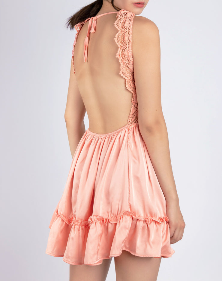 Satin Silk Lace Cami Dress