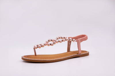 Pink Pearl Thong Sandals - Berness