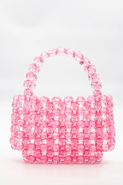 Large Pink Beads Handbag - Berness