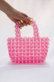 Pink Pearl Beads Handbag - Berness