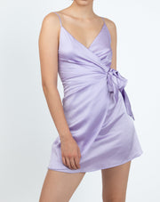 Wrap Side Tie Tulip Hem Dress - Berness