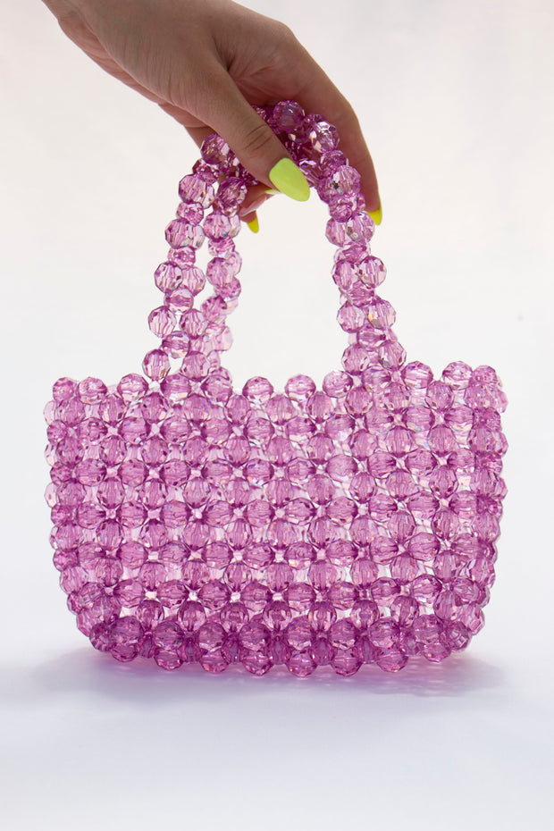 Purple Pearl Beads Handbag - Berness