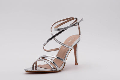 Silver Pointed lace up Heel - Berness