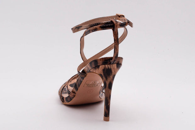 Leopard Pointed lace up Heel - Berness