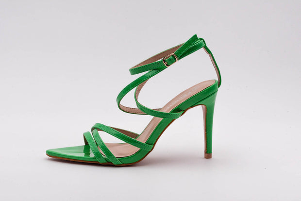 Green Pointed lace up Heel - Berness