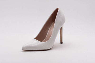 White Vinyl Stiletto Heel