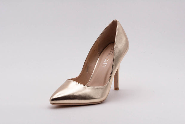 Gold Metallic Stiletto Heel - Berness