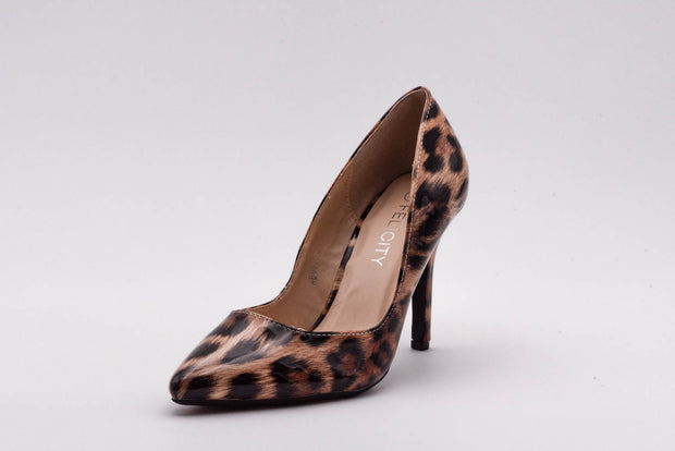 Leopard Vinyl Stiletto Heel - Berness