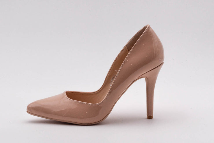 Nude Vinyl Stiletto Heel - Berness