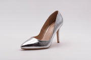 Silver Metallic Stiletto Heel