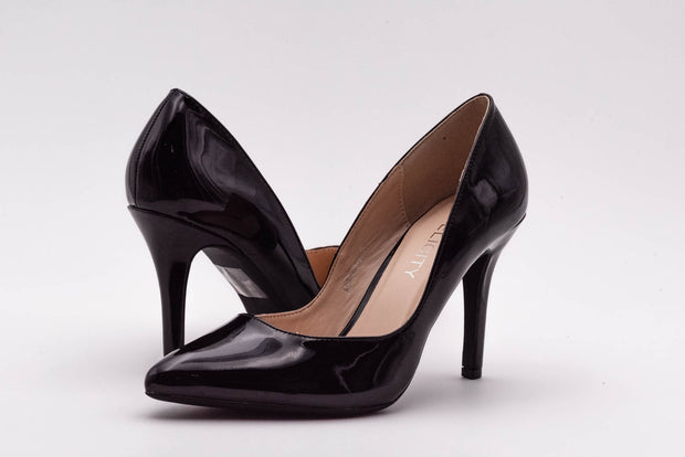 Black Vinyl Stiletto Heel - Berness
