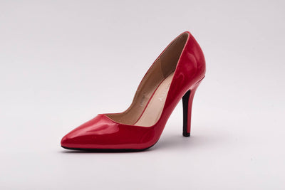 Wine Vinyl Stiletto Heel