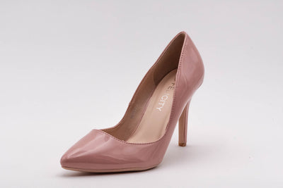 Pink Vinyl Stiletto Heel - Berness