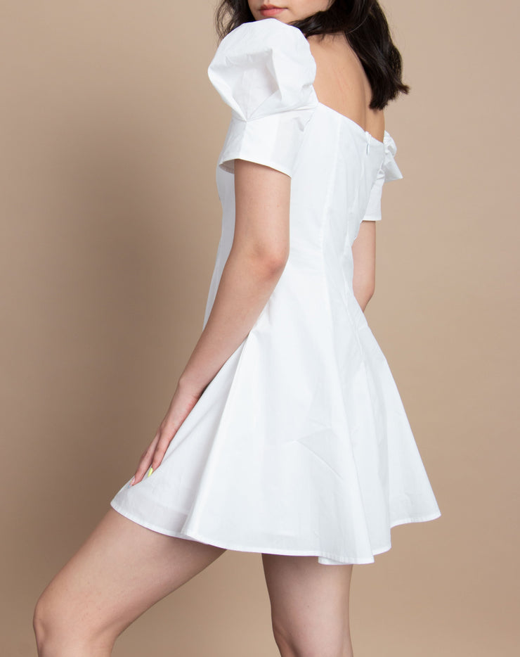 Puff Sleeve A-Line Dress - Berness