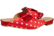 Red Pointed Polka Dot Loafers - Berness