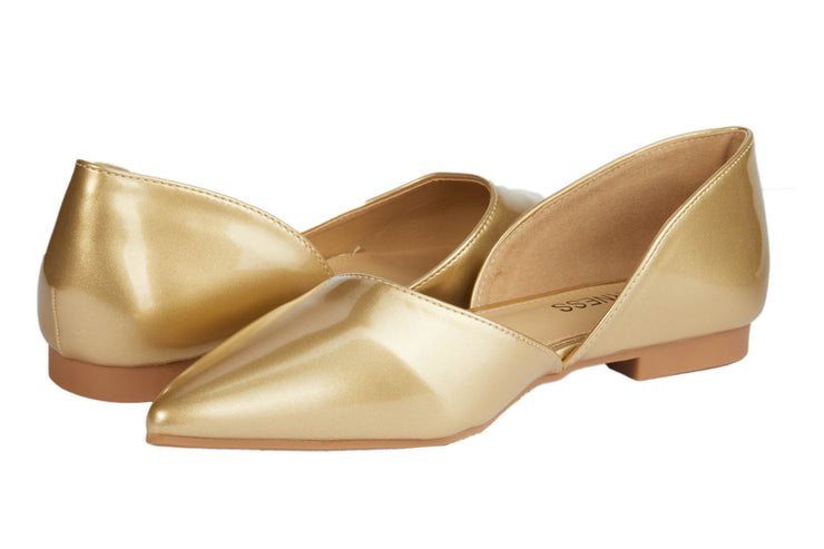 Gold Pointed Vinyl Flats - Berness