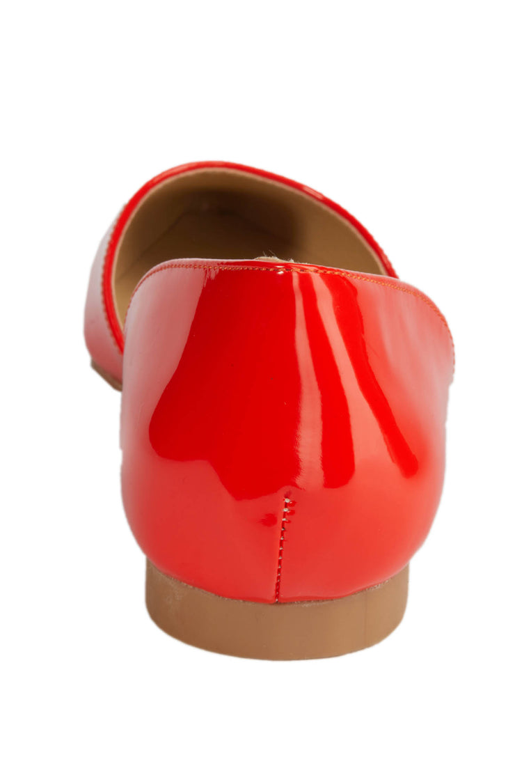 Red Pointed Vinyl Flats - Berness