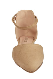 Beige Pointed Suede Flats - Berness