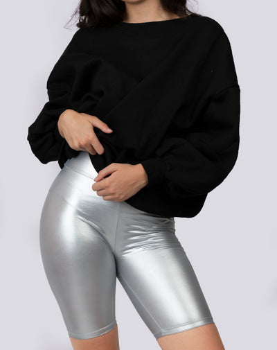 Metallic Biker Shorts - Berness