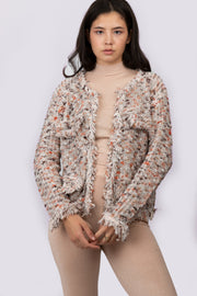 Tweed Knit Cardigan Coat - Berness