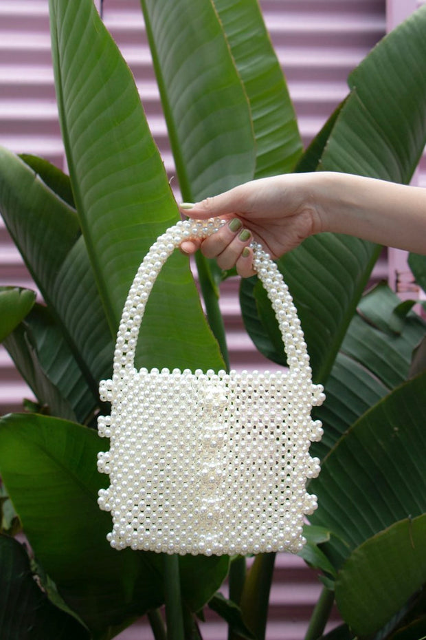 Fancy Pearl Beaded Bag - Berness
