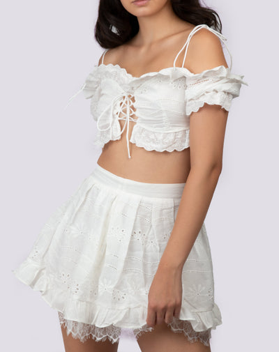 Lace Detailed Two-Piece Set - Berness