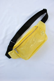 Yellow Fishnet Fanny Pack