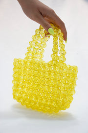 Yellow Pearl Beads Handbag - Berness
