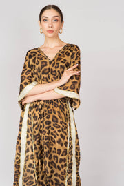 Leopard Kaftan Maxi Dress - Berness