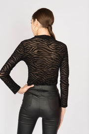 Zebra Striped Bodysuit - Berness