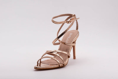 Champagne Pointed Lace Up Heel - Berness