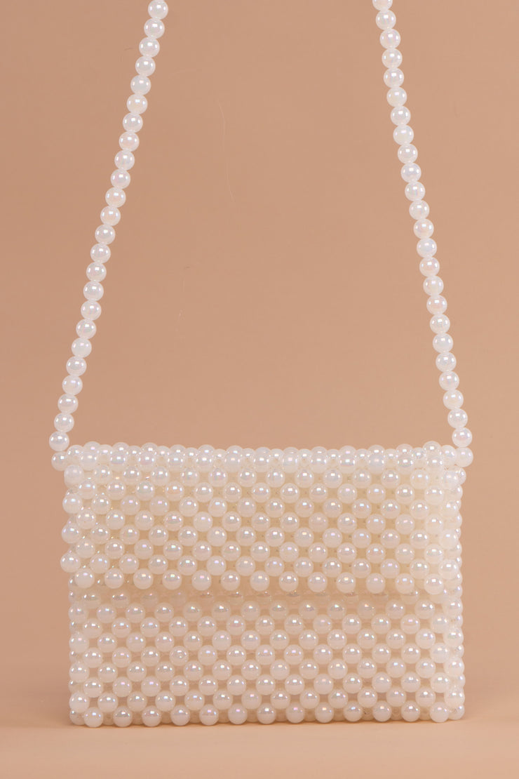 White Pearl Flap Bag